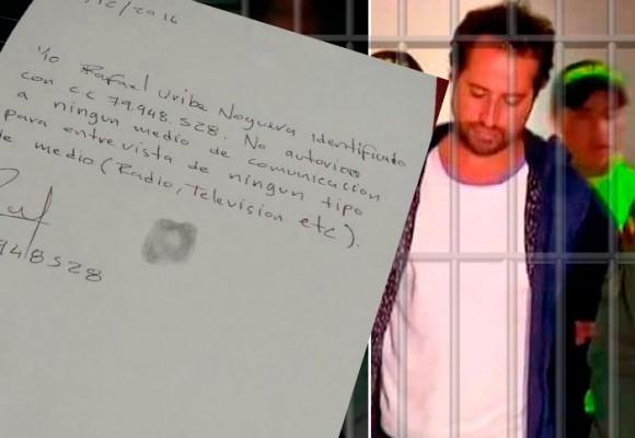 Primera carta de Rafael Uribe Noguera desde La Picota