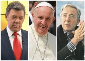 El Papa buscó acercamiento entre Santos y Uribe