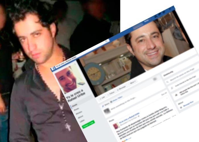El 'club de fans' de Rafael Uribe Noguera en Facebook