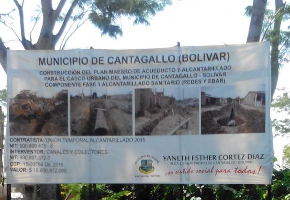 En Cantagallo (Bolívar) se le hace un monumento a la corrupción