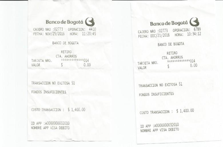 Banco de bogot cobra 1500 por cada transacci n no for Cajero automatico cerca de mi ubicacion