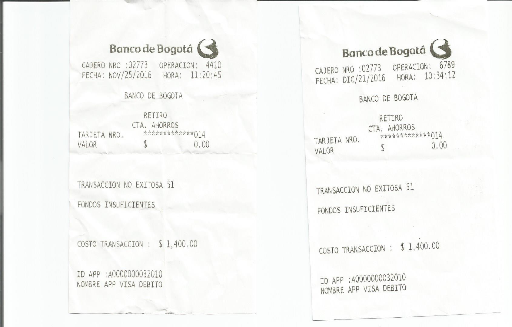 Banco de bogot cobra 1500 por cada transacci n no for Banco de bogota