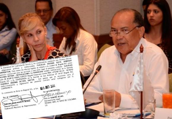 El contrato de $ 17 mil millones que tumbó a Amilkar Acosta en la Fedepartamentos