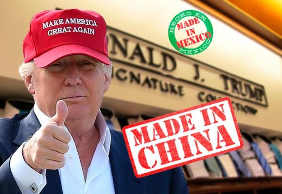 En manos de mexicanos, nicas y chinos está la ropa de Donald Trump