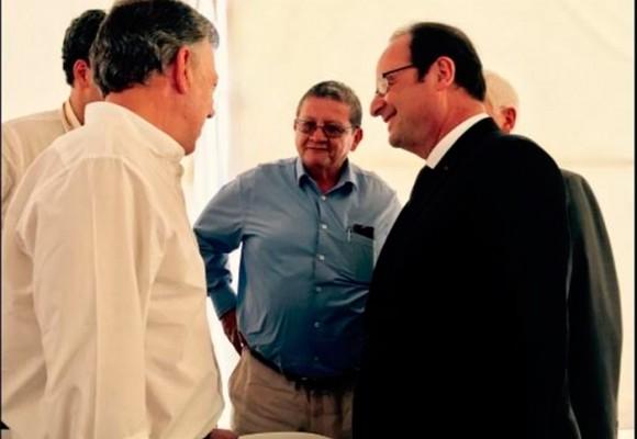 Imágenes del presidente francés Hollande con las Farc en Caldono, Cauca
