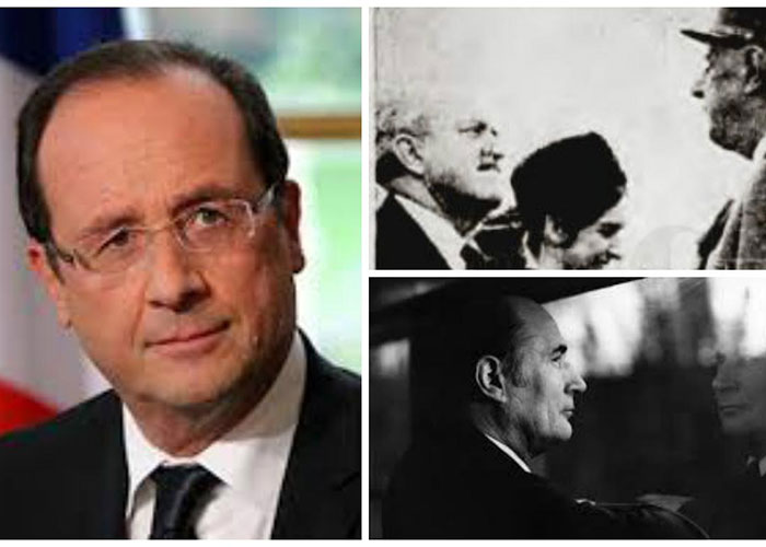 Francois Hollande siguiendo los pasos del general De Gaulle y de Francois Mitterrand