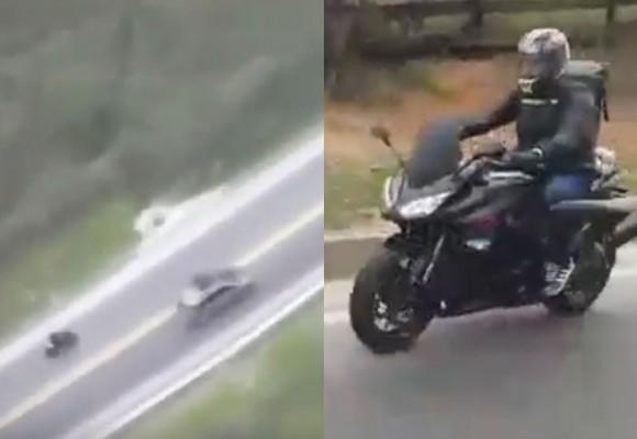 VIDEO: Persecución de película a motociclista desde helicóptero en el Plan Retorno