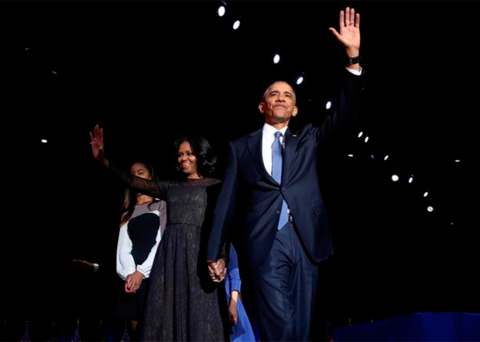 El adiós de Obama en Chicago