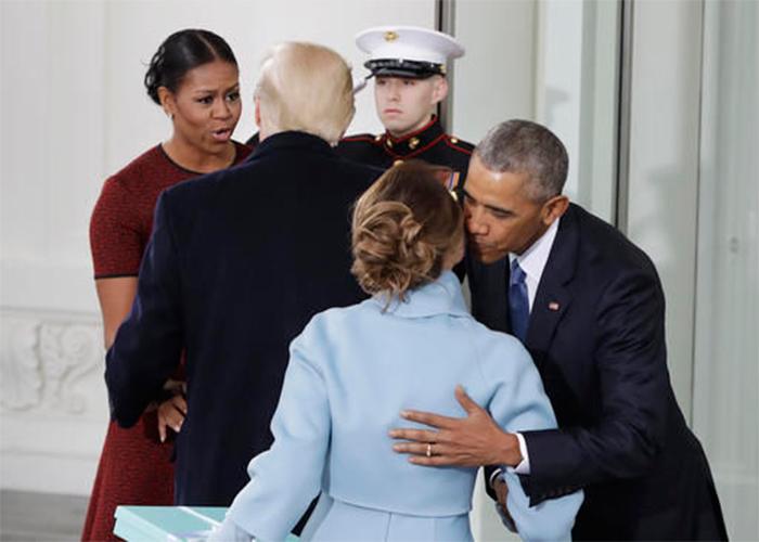 Fotos: Así fue cómo Barack Obama le enseñó a Trump a tratar a una mujer