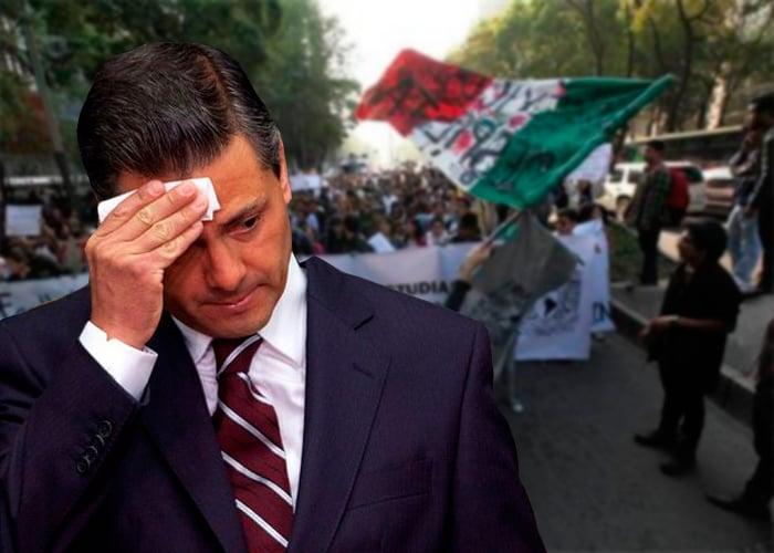 Peña Nieto, superado por el desespero mexicano