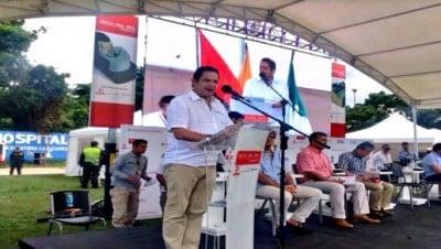 El Vicepresidente el 21 de noviembre del 2014 inaugurando los inicios de la obra en Ocaña