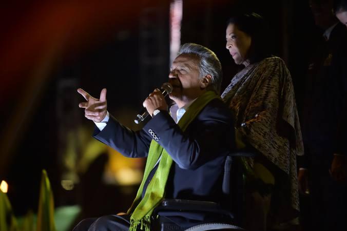 Lenín Moreno, desde una silla de ruedas, se convirtió en el sucesor de Rafael Correa