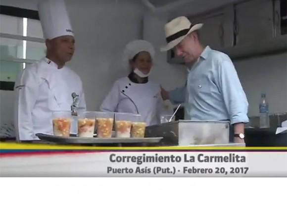 Video: el show a Santos en la zona veredal de La Carmelita en Putumayo