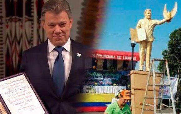 ¿Final fatal a la estatua de Santos en el Caquetá?