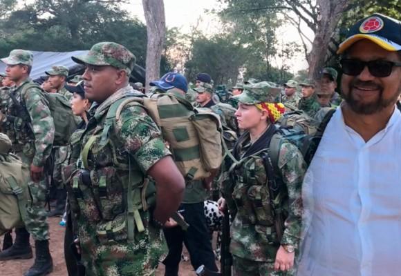 VIDEO: La marcha de Iván Márquez con su tropa en El Conejo, Guajira