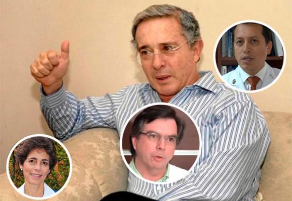 Los médicos que cuidan al expresidente Álvaro Uribe
