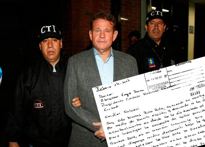 De su puño y letra, Otto Bula niega que dinero de Odebrecht fuera para campaña de Santos