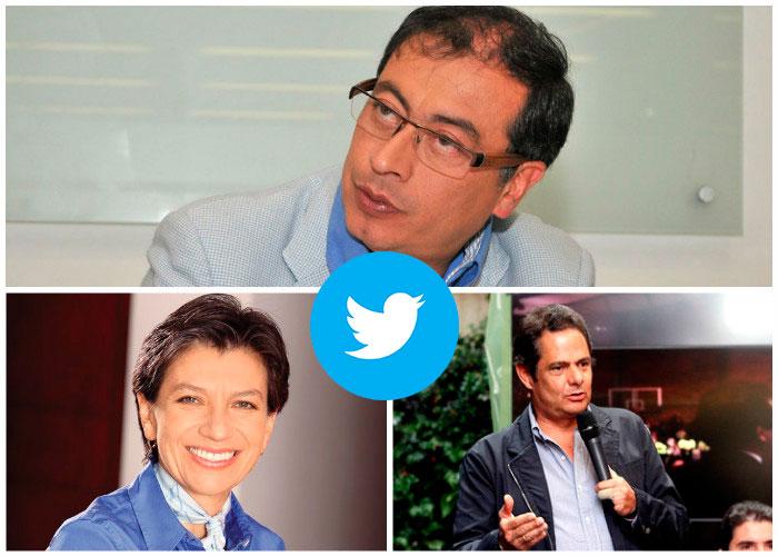 Petro, Claudia López y Vargas Lleras, los candidatos con más seguidores falsos en Twitter