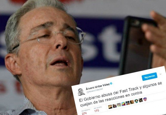 Uribe derrota el tedio de su hospitalización a golpe de trinos