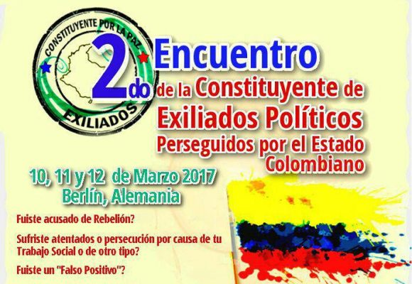 Exiliados políticos colombianos se reunirán en Berlín