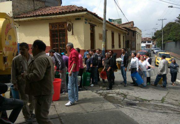 La inseguridad en Bogotá dejó al centro de la ciudad sin agua