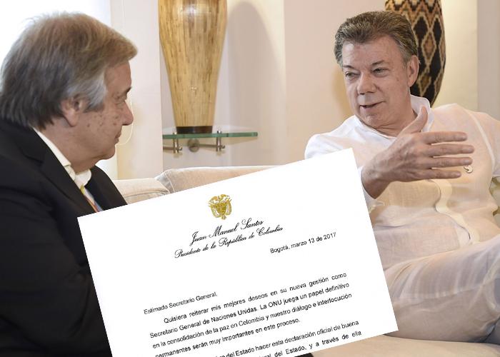 La carta de Santos al Secretario general de la ONU con la que se blindan los Acuerdos