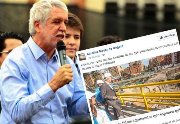 Peñalosa le paga a Facebook para mejorar su imagen