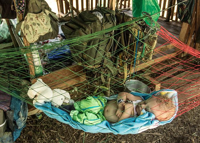 Video: Un bebé en el campamento del Bloque Sur de las FARC