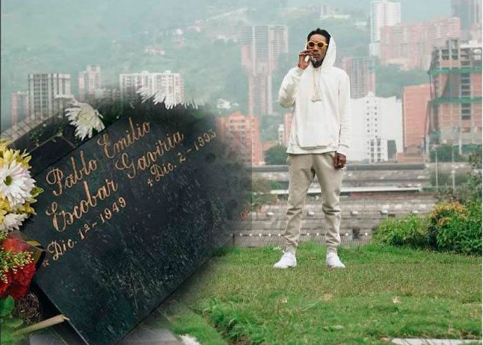 El recorrido narco del rapero gringo Whiz Khalifa en Medellín