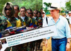 La embarrada de Santos en Twitter con las armas de las Farc