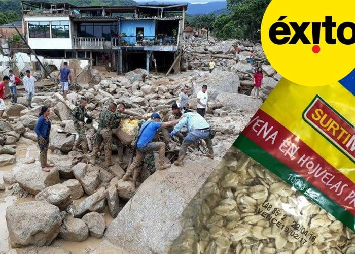 El Éxito y Carulla están vendiendo mercados vencidos para donar en Mocoa