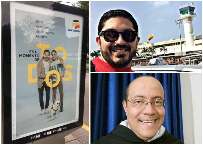 Los religiosos se enfrentan a Bancolombia por publicidad con una pareja gay