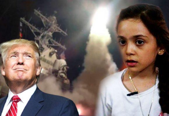 """""""Bombardearon mi escuela, mataron a mis amigos…"""" Bana, la niña twittera de Siria, celebra los misiles de Trump"""