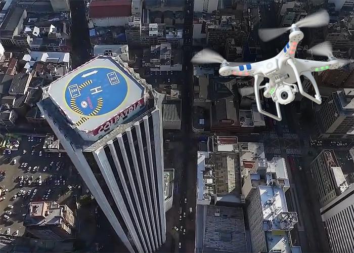 El centro de Bogotá captado desde un drone