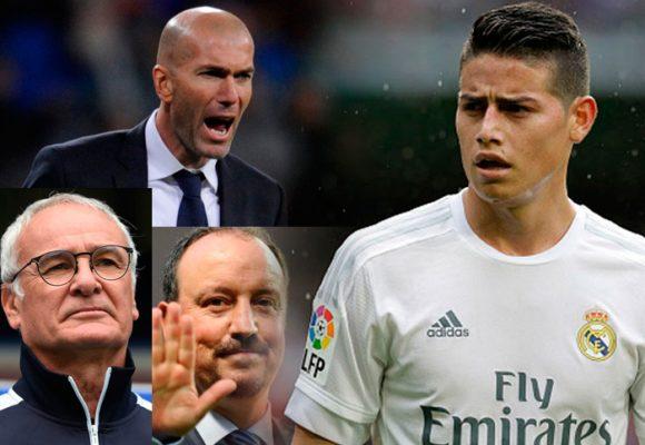 Zidane y otros técnicos que no se han aguantado la indisciplina de James