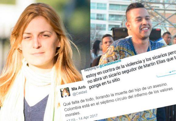 La tuitera antiuribista que se atrevió a recordar el feminicidio de Diomedes en la muerte de Martín Elías