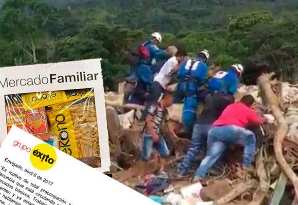 La respuesta del Grupo Éxito a los mercados vencidos para Mocoa