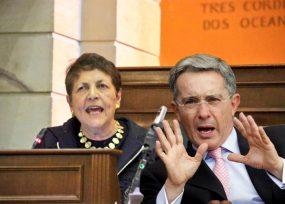 Agarrón entre Gloria Gaitán y Álvaro Uribe en el Congreso