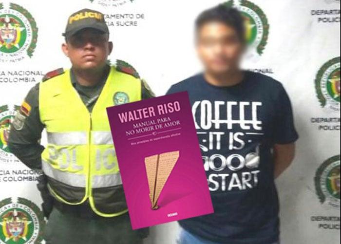 El joven que metieron preso por robarse un libro de Walter Rizo en el Éxito
