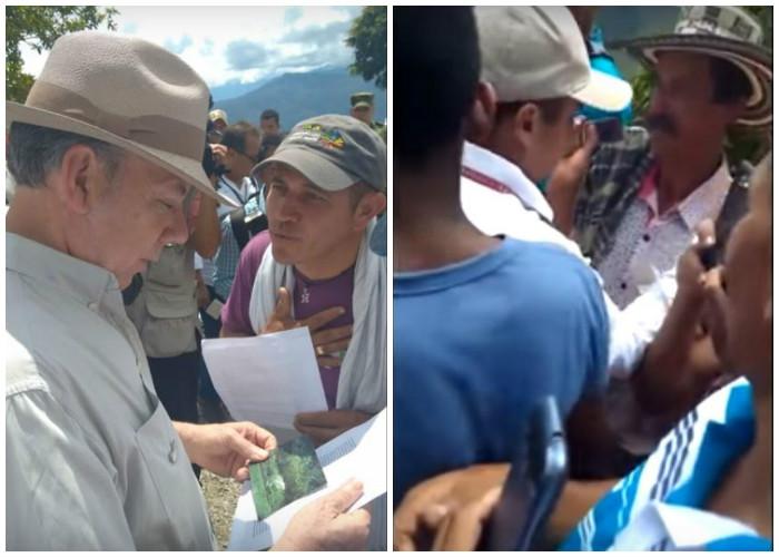 Así actúan los escoltas de Santos para que el presidente no vea los problemas