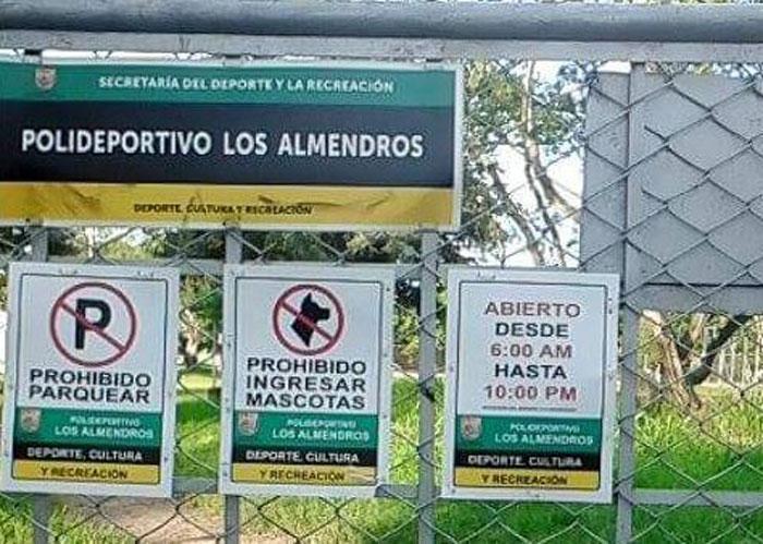 Prohiben ingreso de mascotas a parque público de Cali
