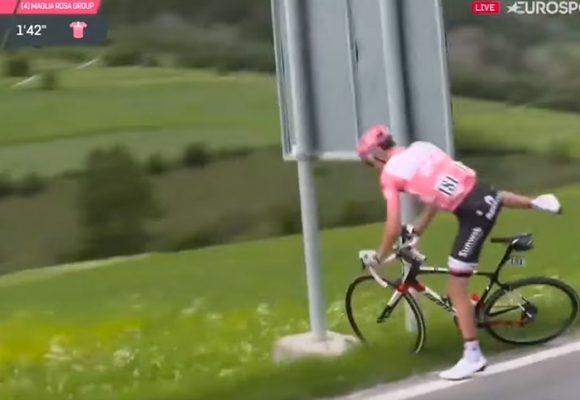Video: La urgencia que tuvo Dumoulin y que está a punto de quitarle el Giro al rival de Nairo