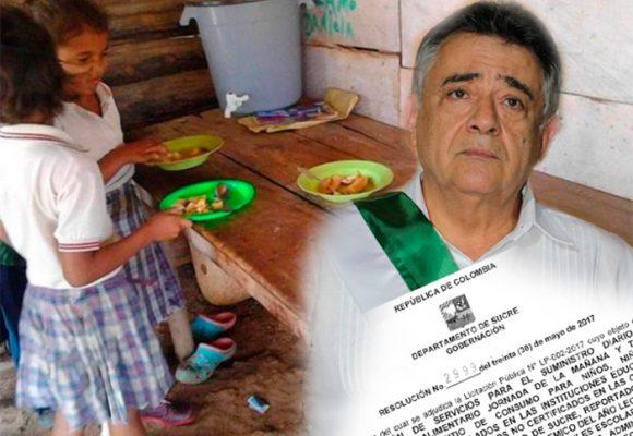 El gobernador de Sucre le volvió a incumplir a los niños: el PAE quedó en malas manos