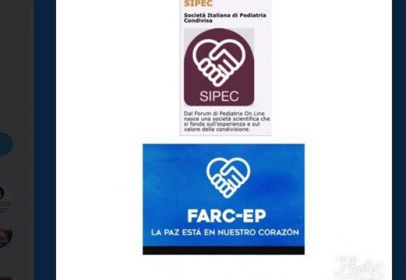 El logo del que se pegó el argentino que diseñó la nueva imagen de las  Farc