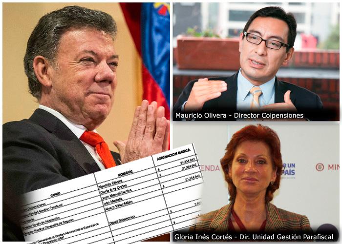 Cuánto gana Santos y los funcionarios mejor pagados del gobierno