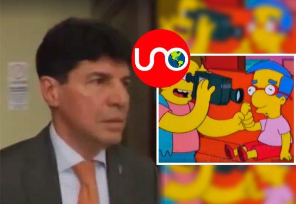 ¿Los Simpsons predijeron el ataque a Noticias UNO por parte de Saúl Cruz en el Senado?