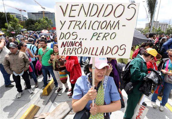 La histórica huelga de los educadores colombianos
