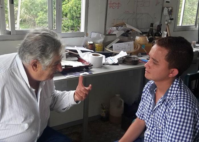 Joven de Galapa (Atlántico) fue recibido por Pepe Mujica