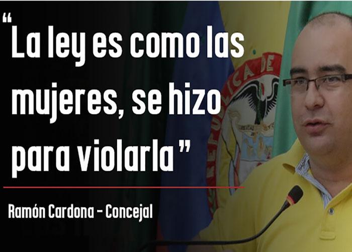 Sobre la misoginia y la permisividad política en Colombia: el caso del concejal Ramón Cardona
