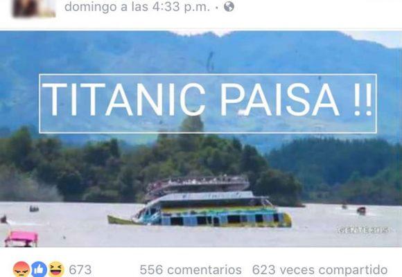 """Titanic paisa"", la burla en redes por la tragedia de Guatapé"